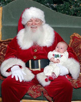 Riley and Santa
