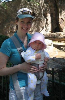 Tiny and I at the zoo