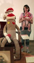 Giant sock monkey